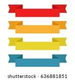 vector ribbon banners | Shutterstock .eps vector #636881851