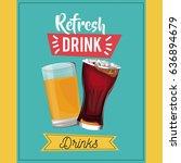 refresh drinks beer glass soda... | Shutterstock .eps vector #636894679