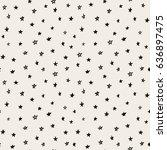 hand drawn  seamless star... | Shutterstock .eps vector #636897475