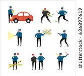 police officer people character ... | Shutterstock .eps vector #636897619