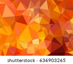 Abstract Orange Triangle...