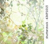 Pastel Butterfly Flowers Art I...