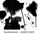 background with ink stains. ink ... | Shutterstock .eps vector #636911569