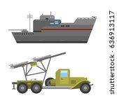 military technic army war... | Shutterstock .eps vector #636913117