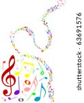 musical background with colored ...   Shutterstock .eps vector #63691576