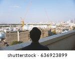 real estate investors looking... | Shutterstock . vector #636923899