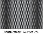 dark metal perforated... | Shutterstock . vector #636925291