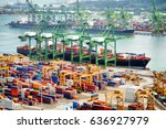 View Of A Container Terminal A...