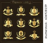 crest logo set  | Shutterstock .eps vector #636928159