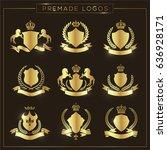 crest logo set  | Shutterstock .eps vector #636928171