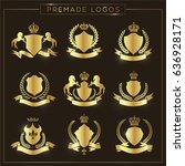 luxury and crest logo element... | Shutterstock .eps vector #636928171