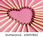 Matches Formed As A Heart On...