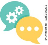 technical support vector icon | Shutterstock .eps vector #636930211