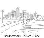 Street Road Graphic Black Whit...