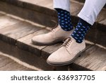 Men Elegant Shoes With Blue...