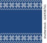 winter sweater fairisle design. ... | Shutterstock .eps vector #636938761