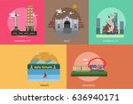 city of indonesia conceptual... | Shutterstock .eps vector #636940171
