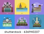 city of indonesia conceptual... | Shutterstock .eps vector #636940207