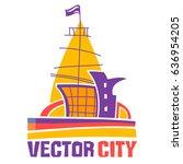 simple fantastic house  vector... | Shutterstock .eps vector #636954205