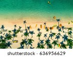 aerial view of caribbean resort ... | Shutterstock . vector #636956629