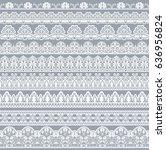 horizontally seamless floral... | Shutterstock . vector #636956824