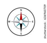 compass icon. flat design....   Shutterstock .eps vector #636960709