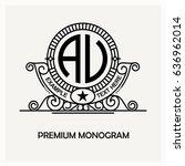 modern emblem  badge  label... | Shutterstock .eps vector #636962014