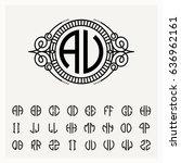 modern emblem  badge  label... | Shutterstock .eps vector #636962161