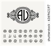modern emblem  badge  label... | Shutterstock .eps vector #636962197