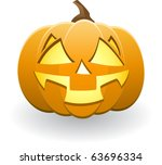illuminated halloween pumpkin | Shutterstock . vector #63696334