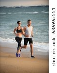 a couple wearing sportswear is... | Shutterstock . vector #636965551