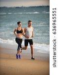 a couple wearing sportswear is...   Shutterstock . vector #636965551