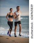 a couple wearing sportswear is...   Shutterstock . vector #636965839