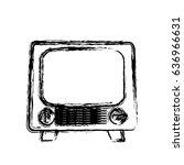 retro television icon | Shutterstock .eps vector #636966631
