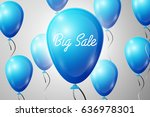 blue balloons with an... | Shutterstock . vector #636978301
