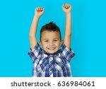 child boy studio portrait... | Shutterstock . vector #636984061