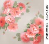romantic floral background | Shutterstock . vector #636985189