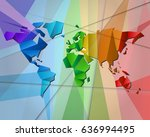colorful world map  rectangle... | Shutterstock .eps vector #636994495