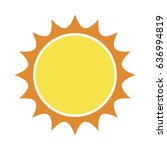 sun vector symbol icon design.... | Shutterstock .eps vector #636994819
