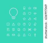 light bulb icon in set on the... | Shutterstock .eps vector #636997069