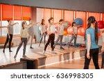fitness  dancing  sport ...   Shutterstock . vector #636998305
