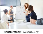 presentation in business... | Shutterstock . vector #637003879