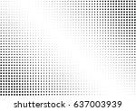 abstract halftone dotted... | Shutterstock .eps vector #637003939