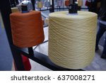 reels or spools of multicolored ... | Shutterstock . vector #637008271