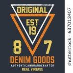 original t shirt. typography... | Shutterstock .eps vector #637013407