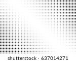 abstract halftone dotted... | Shutterstock .eps vector #637014271