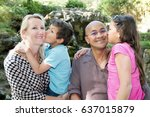 the two children a boy and a... | Shutterstock . vector #637015879