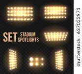 set golden vector stadium... | Shutterstock .eps vector #637022971