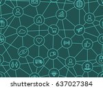 abstract communication... | Shutterstock .eps vector #637027384