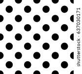 seamless monochrome pattern... | Shutterstock .eps vector #637030171